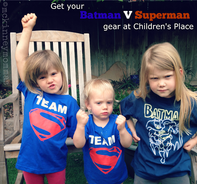 Batman v Superman Giveaway, childrens place, mckinney mommas