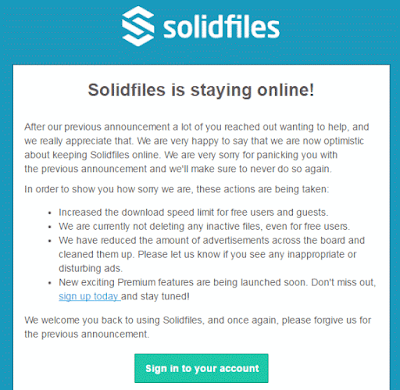 solidfiles tidak jadi menutup layanannya