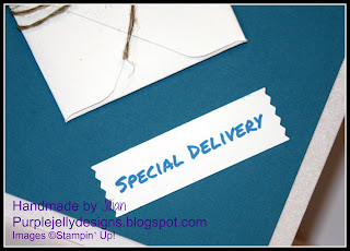 Stampin' Up!, Jillian Selwood, Purple Jelly Designs, Special Delivery, baby boy, blue