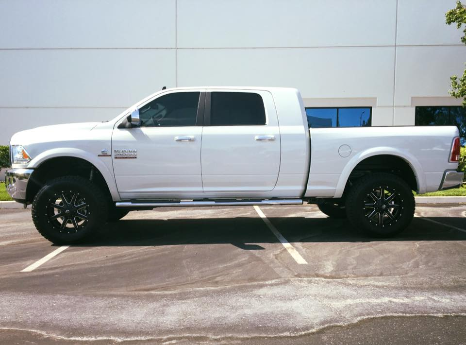 Mega Cab featuring Carli 2500 Leveling Kit, Fuel Maverick 20's, and ...