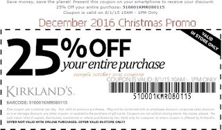 free Kirklands coupons december 2016