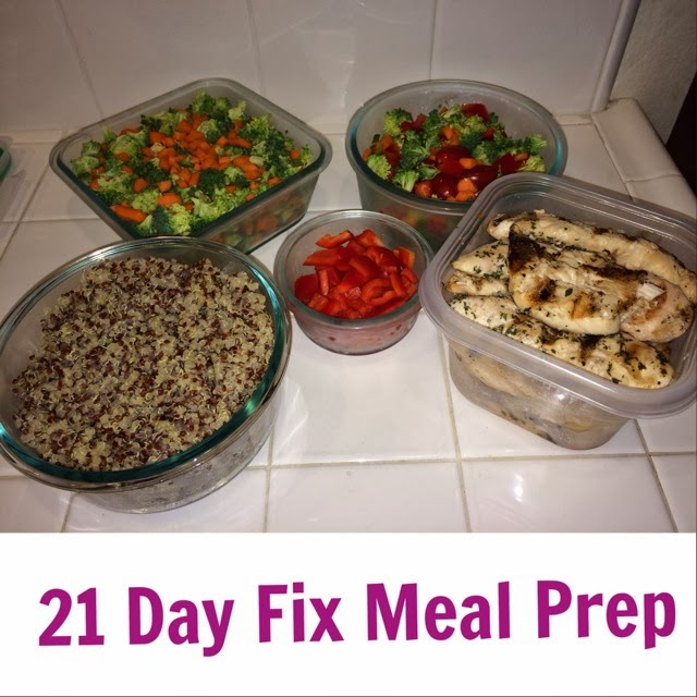 Meal Prep for 21 Day Fix - www.HealthyFitFocused.com