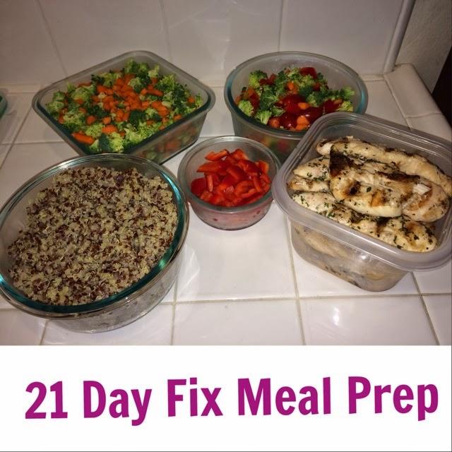 Meal Prep for 21 Day Fix - www.HealthyFitFocused.com