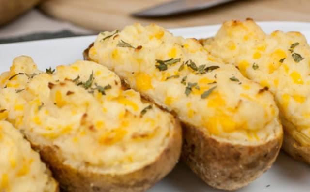 Ψητές Πατάτες με τυρί cheddar...!