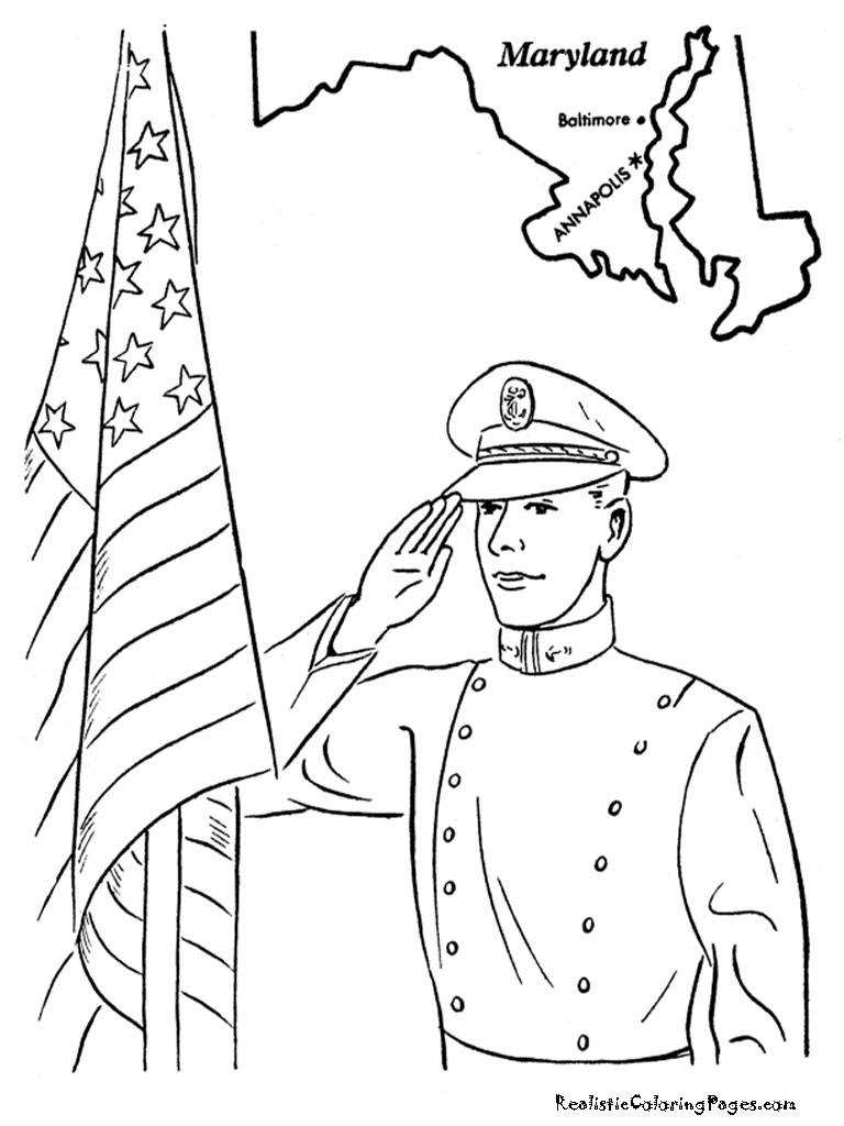 Memorial Day Coloring Pages | Realistic Coloring Pages