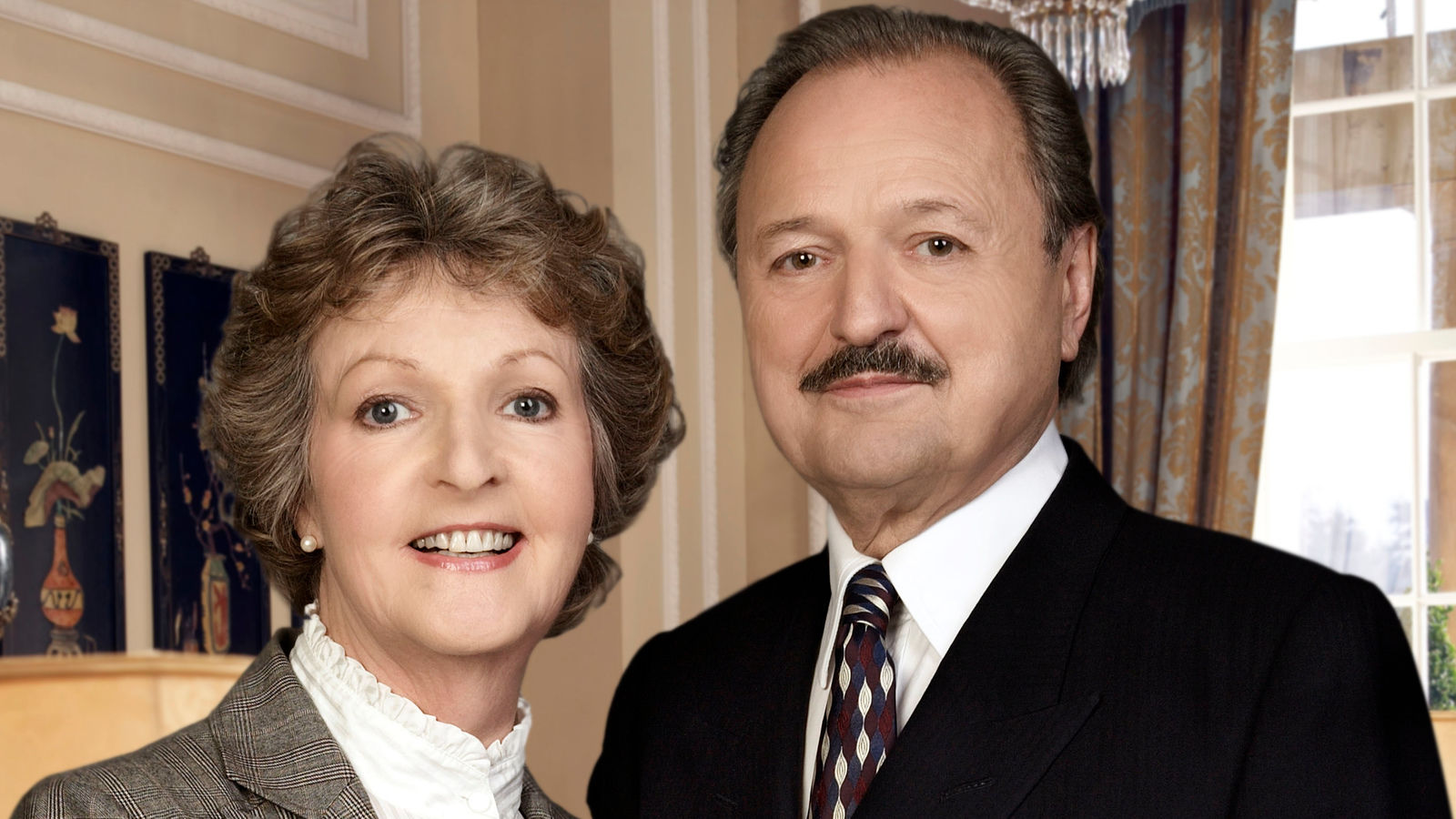 A picture of Penelope Keith and Peter Bowles, the stars of To The Manor Born