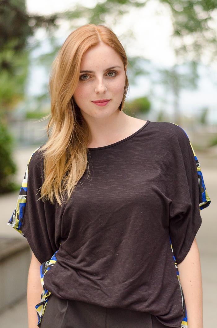 paneled blouse