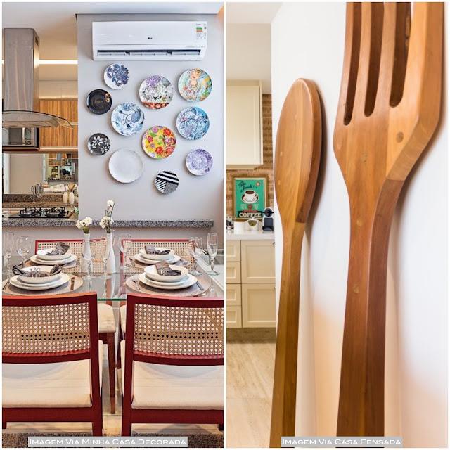 decoração cozinha e sala de jantar