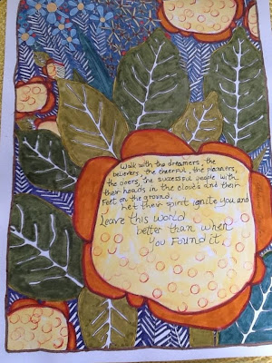 Art Journal Coloring Book by Catherine Scanlon Colored by Chris Dindy