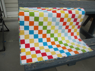rainbow solids quilt