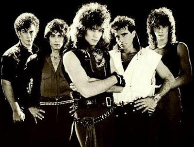 Foto de Bon Jovi con pelo largo