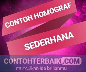 Contoh Homograf