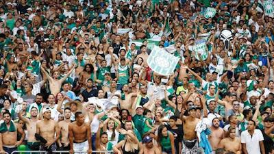 Torcida do Gama foi ampla maioria no jogo (Foto: Anderson Papel/Artimidia Press)