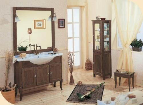 Paredes de un ba o r stico colores en casa - Piastrelle per bagno rustico ...