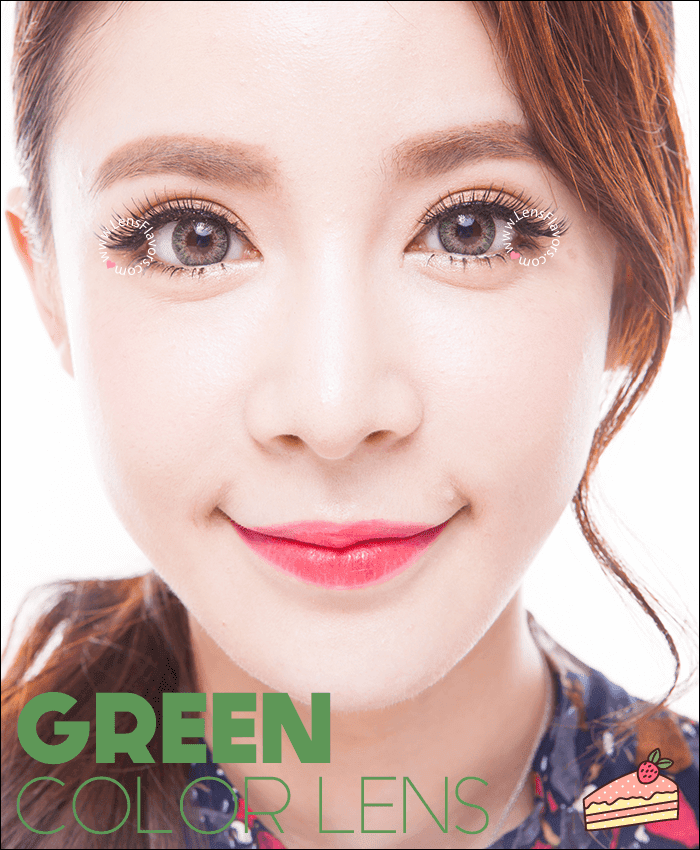 geo tricolor green colored contacts