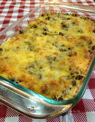 breakfast casserole healthy hash brown cheese turkey sausage