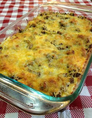 breakfast casserole healthy hash brown cheese turkey sausage