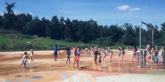 Jeux d'eau des Chanteraines