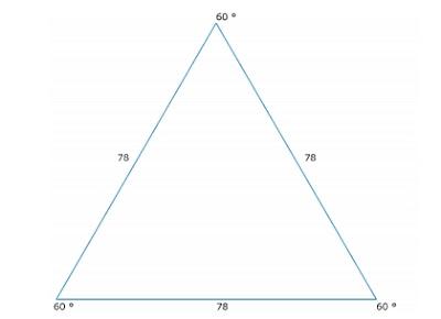equiangular triangulo