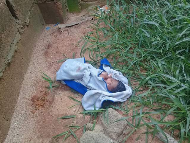 Photos: Newborn baby found abandoned in uncompleted ...