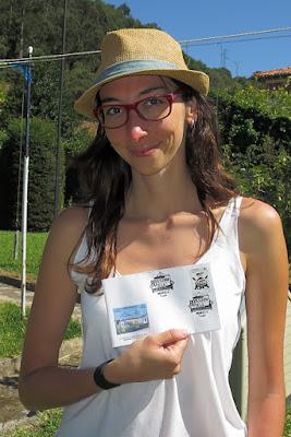 Sandra Alonso, diseñadora del matasellos del Sella 2016