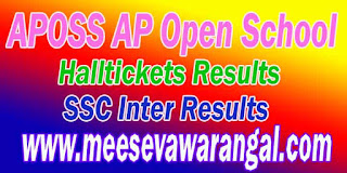 Andhra Pradesh AP Open School Society (APOSS) SSC 10th Class Inter Exam Results