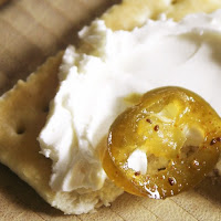 cowboy candy jalapenos with cream cheese & cracker