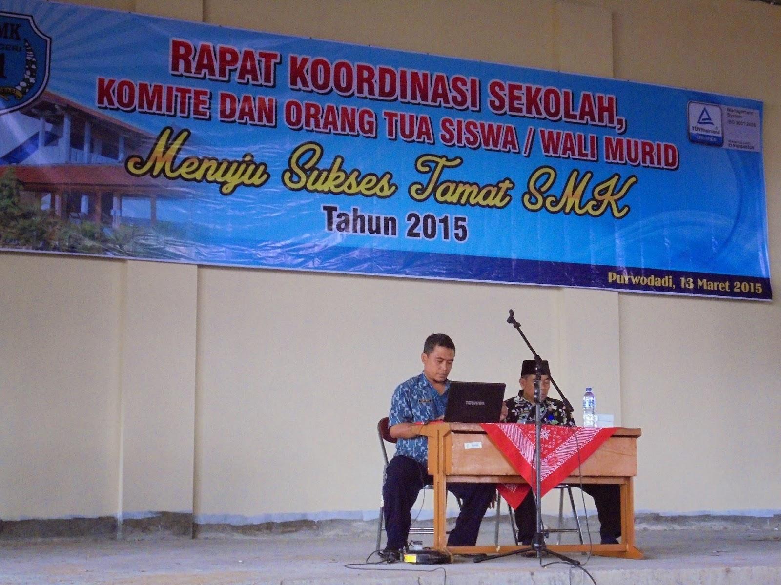 Rapat Koordinasi Sekolah Komite Dan Wali Murid Smkn 1 Purwodadi