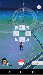 cara menampilkan arah di pokemon go