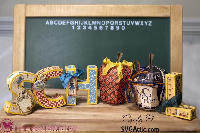 """3d Letters spelling """"School"""""""