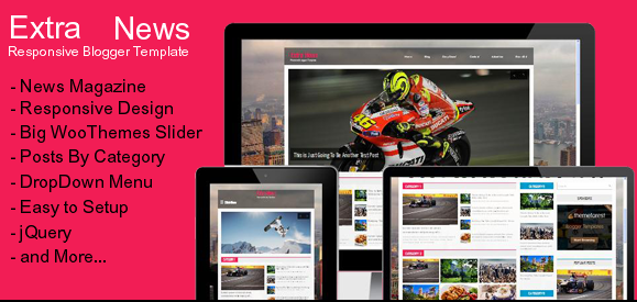 Extra News Responsive Magzine Blogger Template For Free