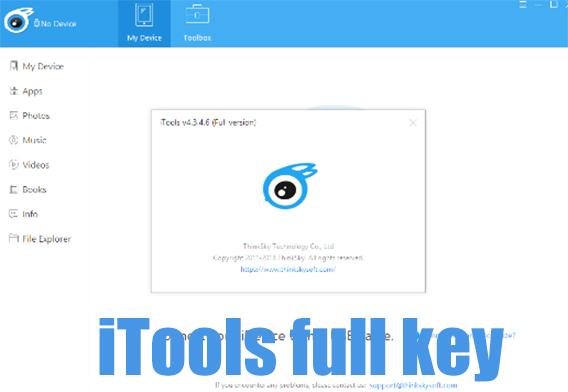 Key iTools 4 + Key iTools 3 3 0 6 : Chia sẻ iTools 4 license