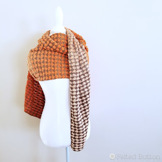 Duo Shawl made with Scheepjes Whirl--free crochet pattern