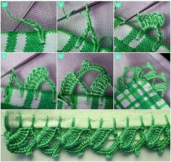 cómo hacer una puntilla en crochet