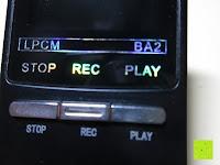 Tasten: GHB 8GB Digitales Diktiergerät Aufnahmegerät Audio Voice Recorder mit Stereoaufnahmen, MP3 Player und USB Spericher -Schwarz