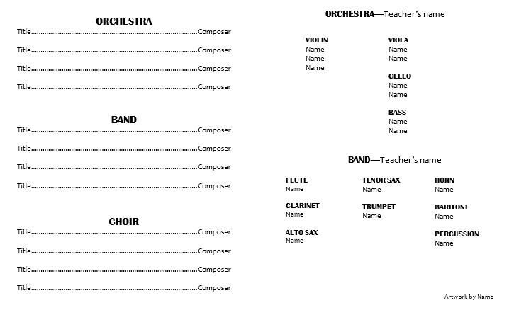 concert programme template - Onwebioinnovate