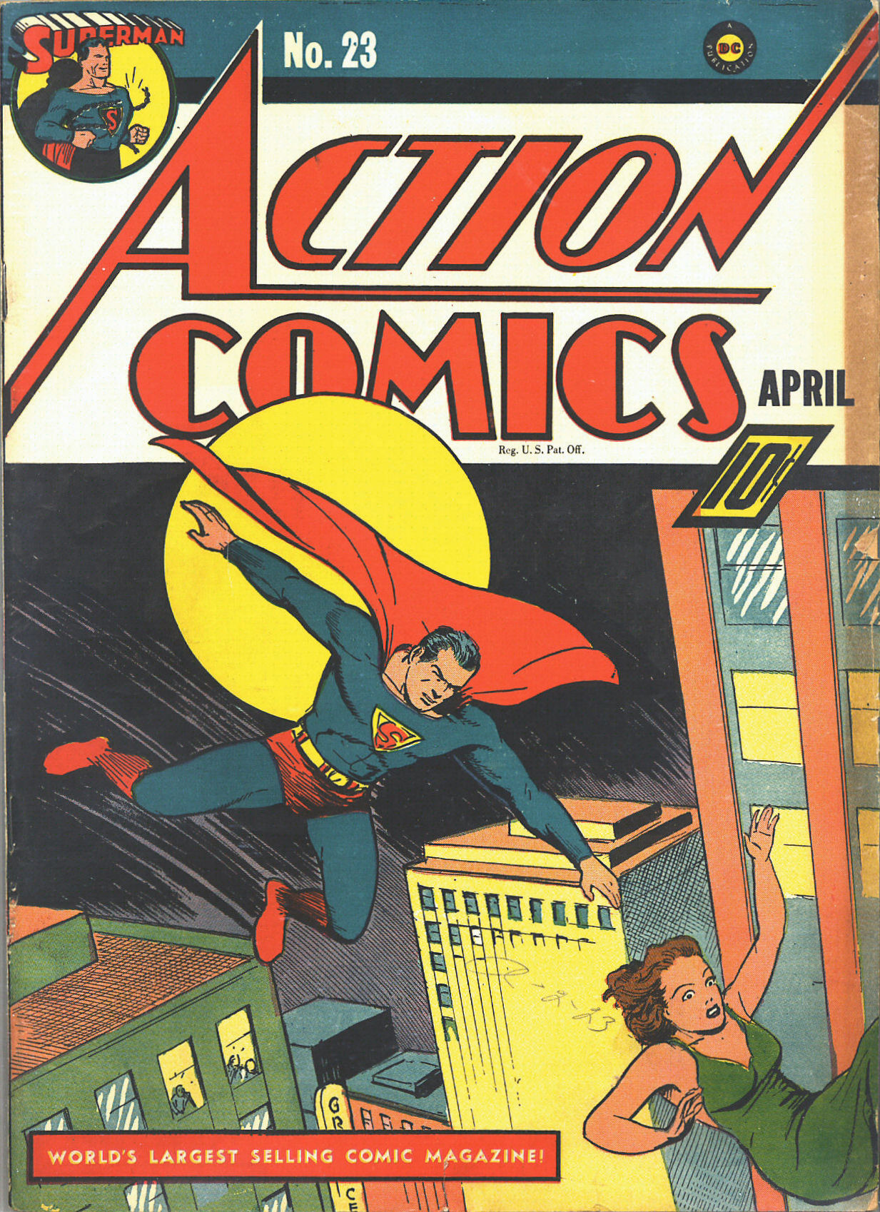 Read online Action Comics (1938) comic -  Issue #23 - 2