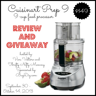 Cuisinart Prep 9 food processor review giveaway
