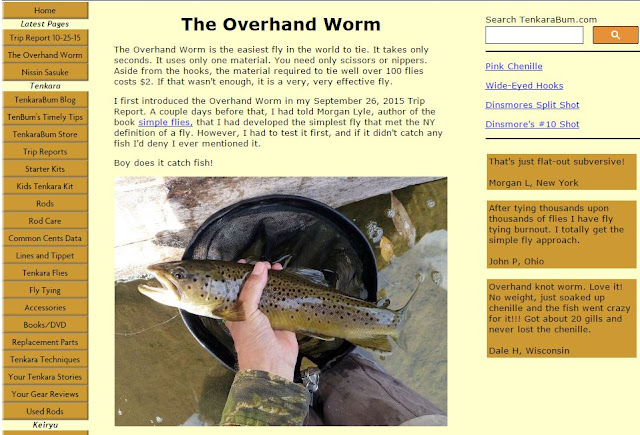 tenkara-bum-overhand-worm-fly-fishing-tying