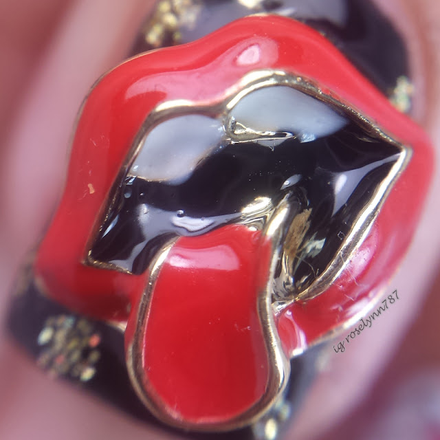 Born Pretty Store - Exaggerated Red Lip With Tongue Charm