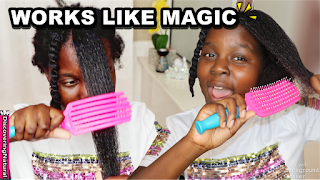 Detangling Natural Hair Brush without tears ft. KareCo Brushes | DiscoveringNatural