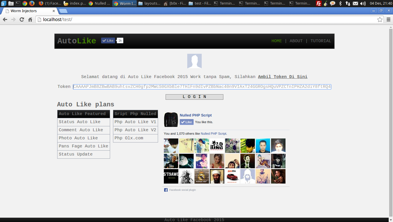 Php Auto Like Facebook Versi 2   Script Php Nulled