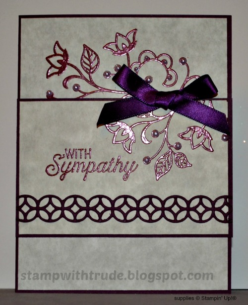 Flourishing Phrases, Stampin' Up!, Stamp with Trude, sympathy card