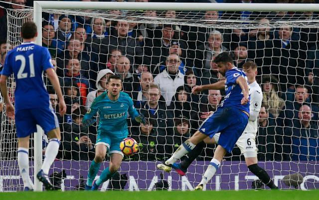 Chelsea 3-1 Swansea Liga Inggris Sabtu 25 Feb 2017
