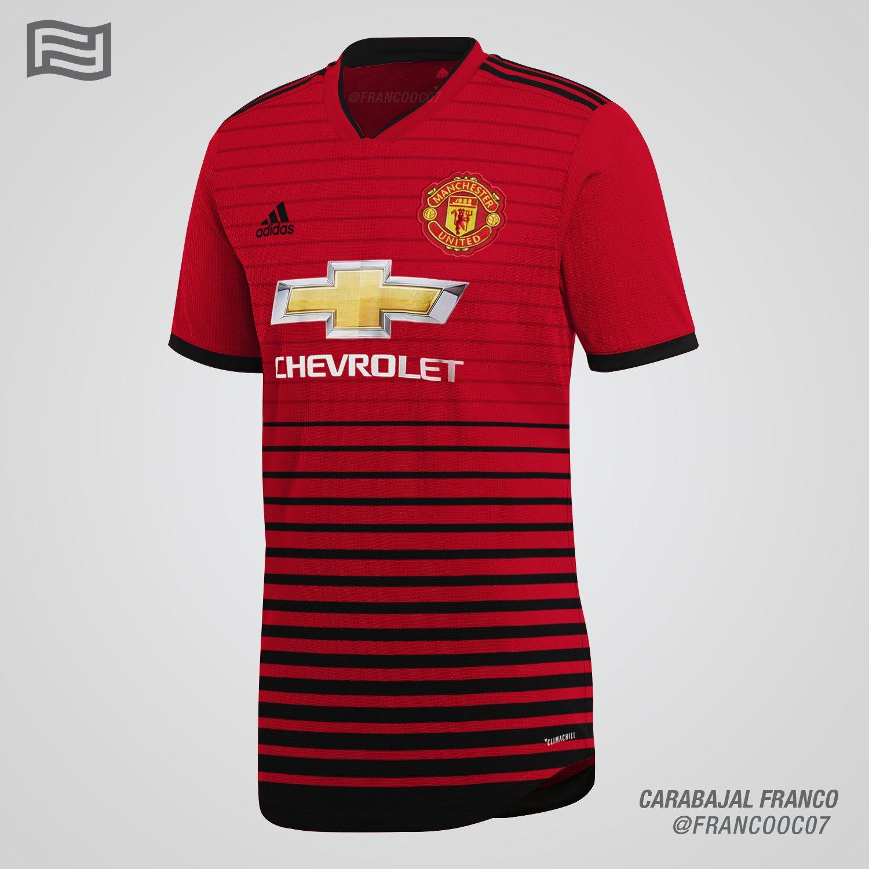 Footyheadlines Manchester United 2018 19 Season Home Kit: Is This How Manchester United's All-New 18-19 Home Kit