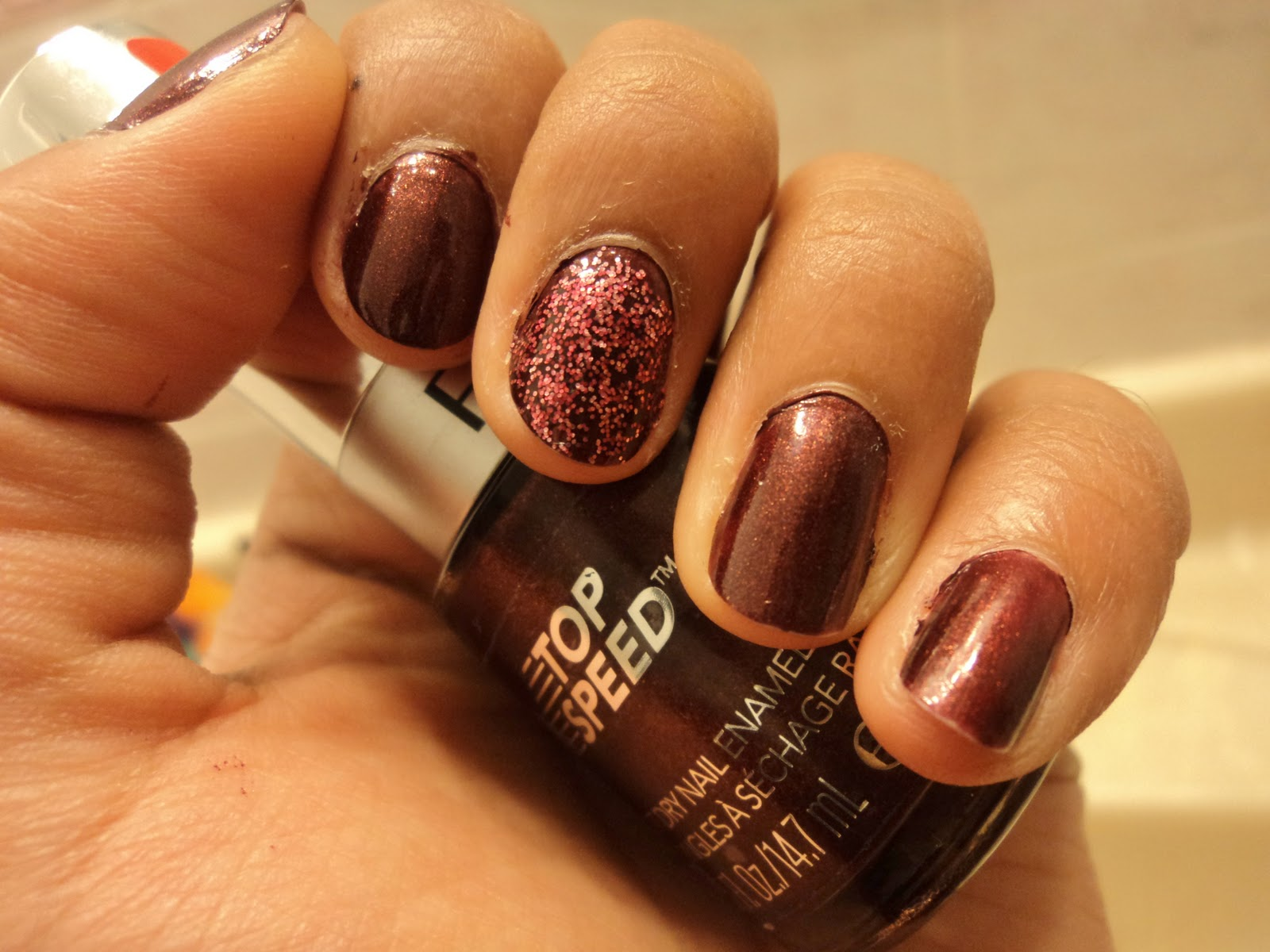 E It Up Is A Cranberry Burgundy Red Which Great Holiday Colour Has Gold Shimmer In That Catches The Light Beautifully