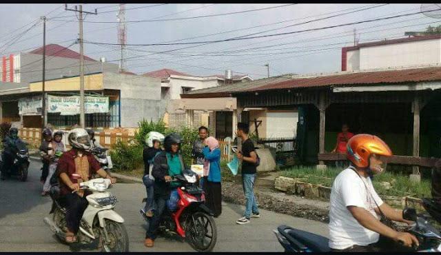 Pc PMII Asahan-Tanjungbalai saat mengumpulkan dana bantuan untuk korban gampa dan tsunami di Palu.