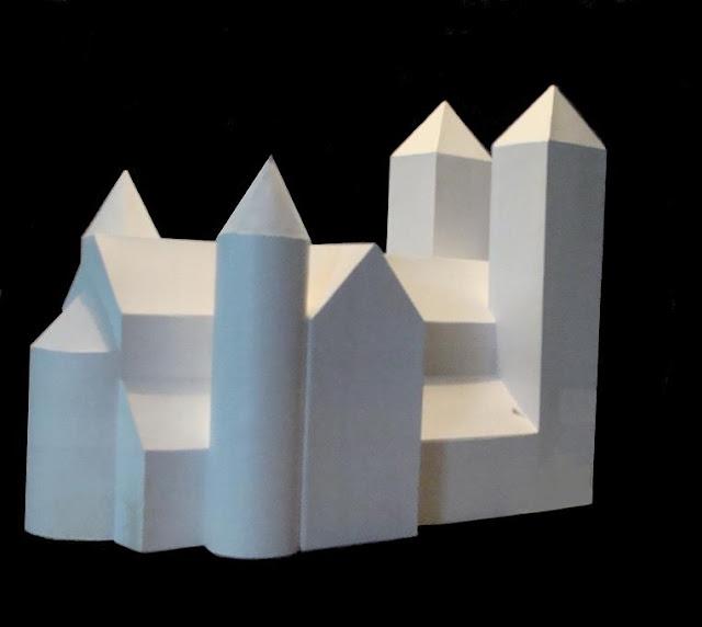 Romański kościół pod wezwaniem Św. Trójcy i Najświętszej Marii Panny w Strzelnie - model bryły