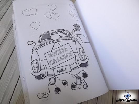 Livrinho de colorir de casamento