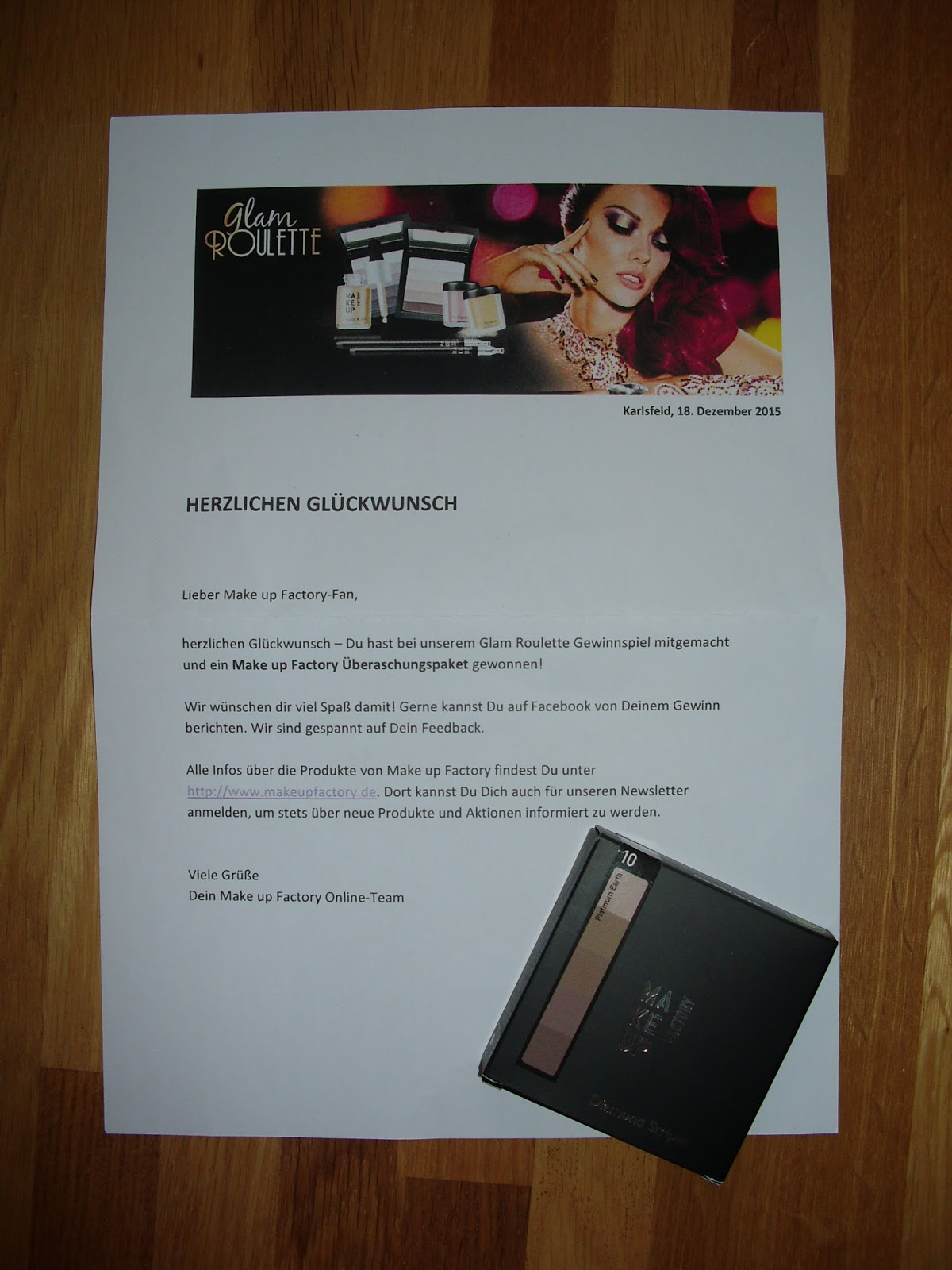 Make Up Gewinnspiel Efiar Beauty Make Up Factory Glam Roulette Gewinnspiel